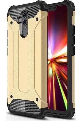 Evastore Huawei Mate 20 Lite Kılıf Zore Crash Silikon - Gold