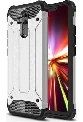 Evastore Huawei Mate 20 Lite Kılıf Zore Crash Silikon - Gri