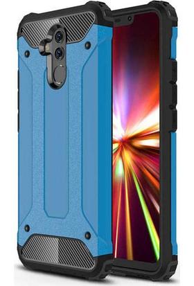 Evastore Huawei Mate 20 Lite Kılıf Zore Crash Silikon - Mavi