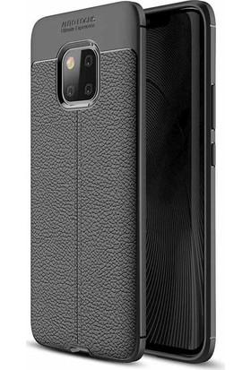 Evastore Huawei Mate 20 Pro Kılıf Zore Niss Silikon - Siyah