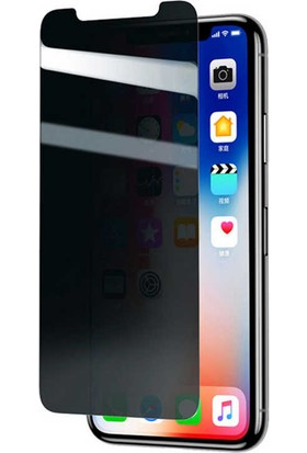 Evastore Apple iPhone XR 6.1 Zore Standart Privacy Cam Ekran Koruyucu - Siyah