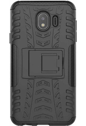 Evastore Galaxy J4 Kılıf Zore Hibrit Silikon - Siyah