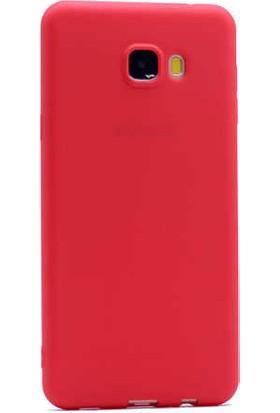 Evastore Galaxy C7 Kılıf Zore Premier Silikon - Kırmızı