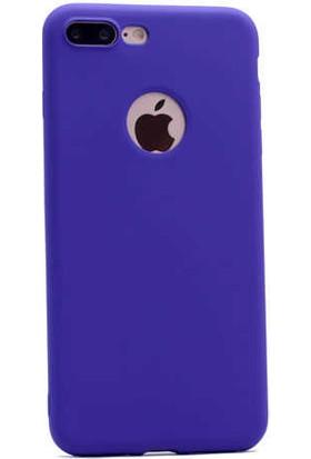 Evastore Apple iPhone 7 Plus Kılıf Zore Premier Silikon - Mor
