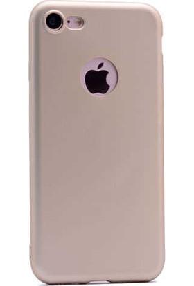 Evastore Apple iPhone 7 Kılıf Zore Premier Silikon - Gold
