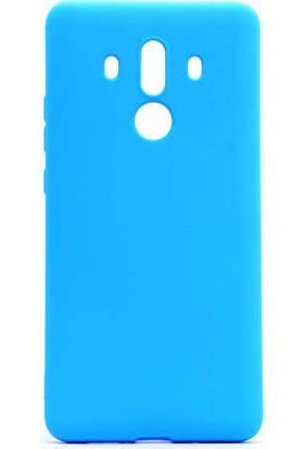 Evastore Huawei Mate 10 Pro Kılıf Zore Premier Silikon - Mavi