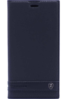 Evastore Asus Zenfone 4 Selfie ZB553KL Kılıf Zore Elite Kapaklı Kılıf - Siyah