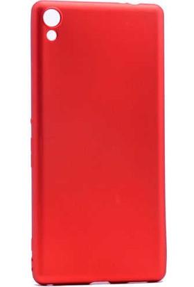 Evastore Sony Xperia XA Ultra Kılıf Zore Premier Silikon - Kırmızı