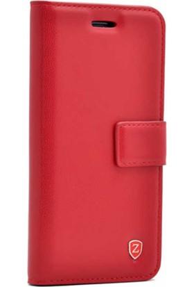 Evastore LG G4 Kılıf Zore New Delüxe Kapaklı Standlı Kılıf - Kırmızı
