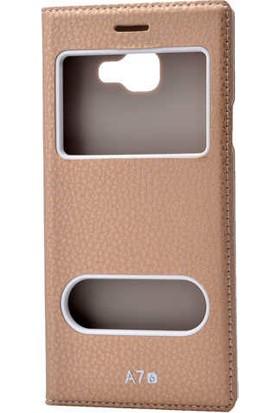 Evastore Galaxy A7 2016 Kılıf Zore Dolce Telefon Kılıfı - Gold
