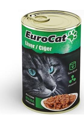 Eurocat Kedi Konservesi Ciğerli 415 Gr