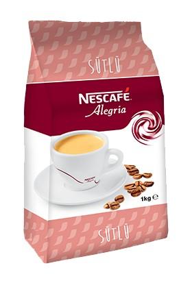 Nescafe Alegria Sütlü - Hazır Kahve Kahve Beyazlatıcılı Çözünebilir Kahve Karışımı 1 kg.