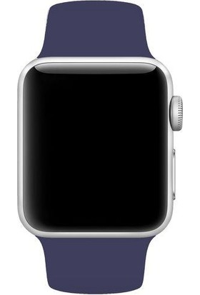 Melefoni Apple Watch 42 mm Kordon Silikon Kayış Lacivert