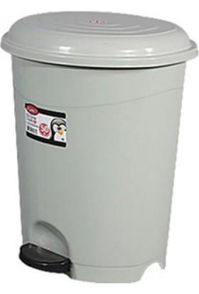 Derin Çöp Kovası Pedallı 40 Lt gri