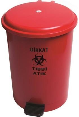 Derin Tıbbi Atık Çöp Kovası 40 Lt Pedallı