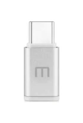 Meizu Micro USB To Type-C Dönüştürücü Adaptör - Gümüş