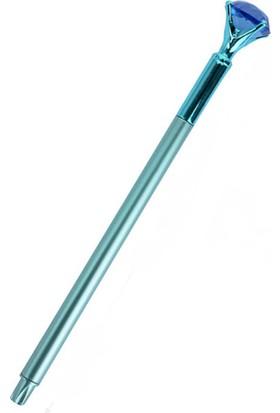 Piramigo Mavi Elmas Taş Metal Tükenmez Kalem - Diamond Stone Pen