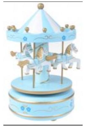 Nostaljik Atlı Karınca Mavi - Beyaz