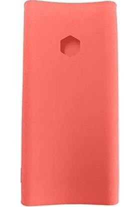 Case 4U Xiaomi 20000 mAh Versiyon 2C Taşınabilir Şarj Cihazı Silikon Kılıf - Pembe