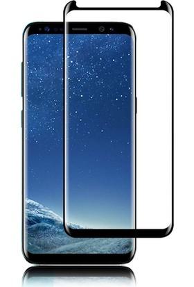 Case 4U Samsung Galaxy S8 Plus 3D Kavisli Temperli Cam Siyah