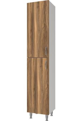 Banos BD1 Metal Ayaklı 2 Kapaklı Tesbih 165 x 35 cm Banyo Boy Dolabı