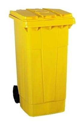 Plastico 120 Lt Sarı Çöp Konteyneri