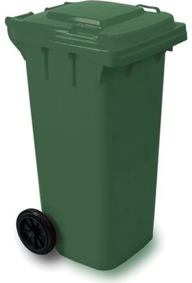 Plastico 120 Lt Yeşil Çöp Konteyneri