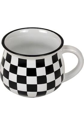 Perotti siyah beyaz damalı tombul kupa