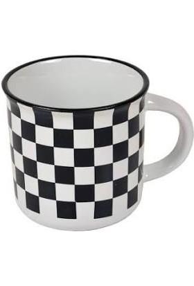 Perotti siyah beyaz damalı kupa
