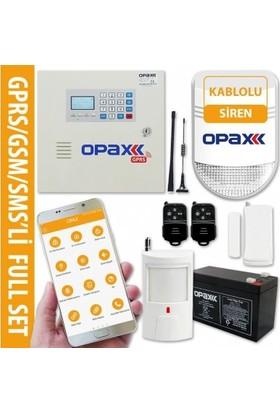 Gprs/Gsm Paneli & Bgr-10 Kablolu Polis Sirenli Full Alarm Seti