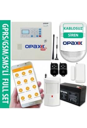 Gprs/Gsm Paneli & Bgr-08 Kablosuz Polis Sirenli Full Alarm Seti