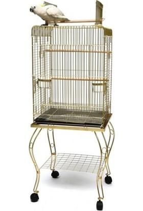 Best Cage P913 Sehpalı Papağan Kafesi Gold