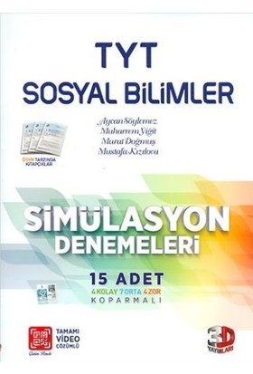 Çözüm Yayınları TYT Sosyal Bilimleri Simülasyon Denemeleri (15 Adet)