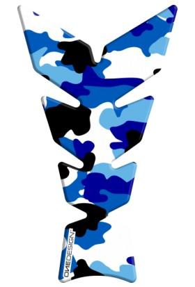 Print Anniversary Mavi Kamuflaj Tank Pad