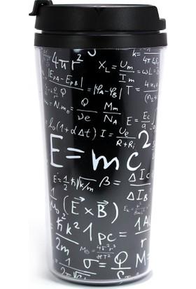Modaroma Einstein Formüller Siyah Termos Bardak