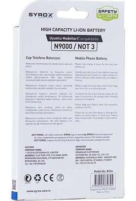 Syrox Galaxy Note 3 Batarya 3200 mAh