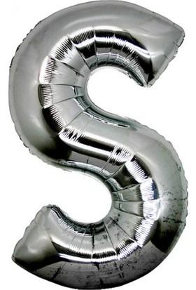 Yabidur S Harf Folyo Balon Gümüş Renk 40 İnç