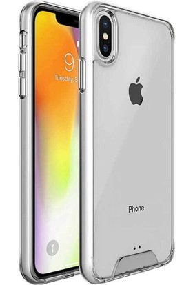 Teleplus iPhone XS Max (Plus) Gard Ultra Sert Silikon Kılıf Şeffaf