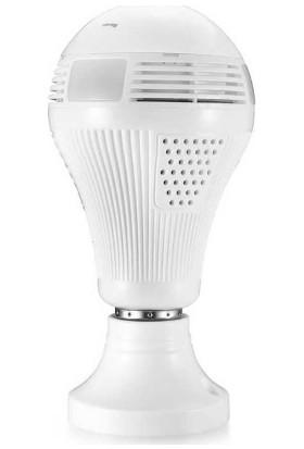 PaleTech Panaromik 360 Derece LED WiFi IP Ampul Kamera KL-B13