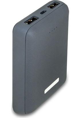 Dexim DCA0012 10000 mAh Rubber Powerbank - Koyu Gri