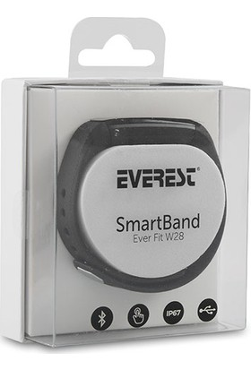 Everest Ever Fit W28 Android/IOS IP67 Akıllı Bileklik Siyah