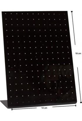 Aydindecor Pleksi Siyah 18 x 14 cm Küpe Standı
