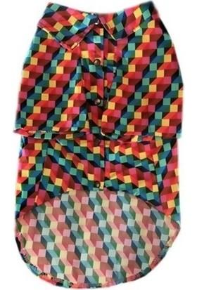 Pawstar Köpek Kıyafeti Ekose Kumaş Renkli 27*50 Cm Large