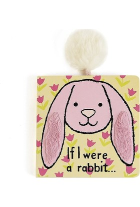 Jellycat Kitap Pembe Tavşan If I Were A Rabbit Board Book Pink Bebek Kitabı