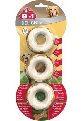8in1 Delights Rings Köpekler İçin Ağız Bakım Kemiği Halka 3' lü