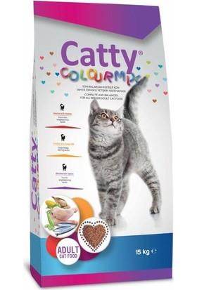 Catty Colourmix Renkli Taneli Yetişkin Kedi Maması 15 kg