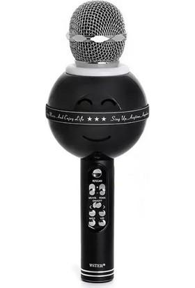Wster Ws-878 Işıklı Karaoke Mikrofon Bluetooth Hoparlör Wireless Microphone Hifi Speaker