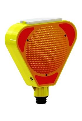 Solar Flaşörlü Uyarı Lambası Sarı UT 8501