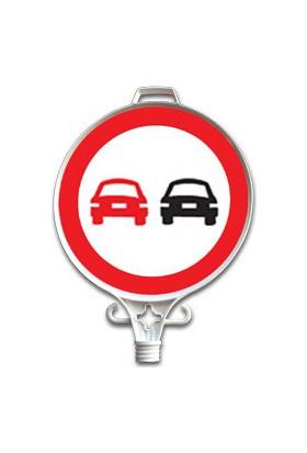 Öndeki Taşıtı Geçmek Yasak Uyarı Levhası (Tek Yön) - UT 2906