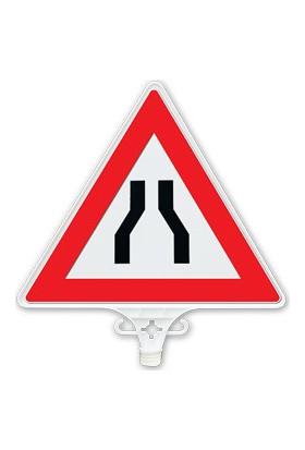 Her İki Taraftan Daralan Yol Uyarı Levhası (Tek Yön) - UT 2801